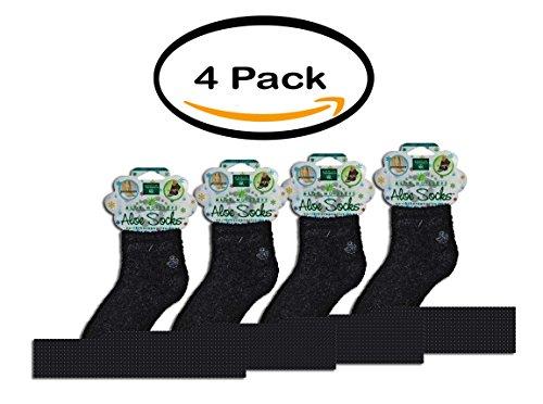 PACK OLF 4 - Earth Therapeutics Moisturizing Aloe Socks Black - 1 Pair by Earth Therapeutics