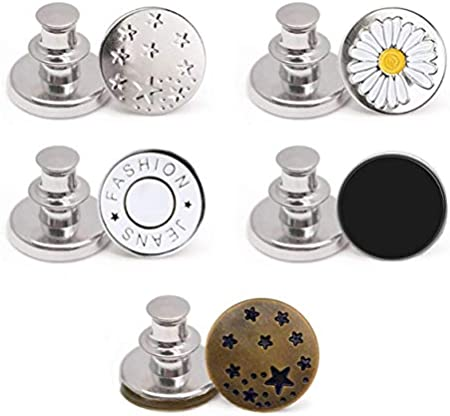 Instant Adjustable Jean Button Pins (5 Pack)