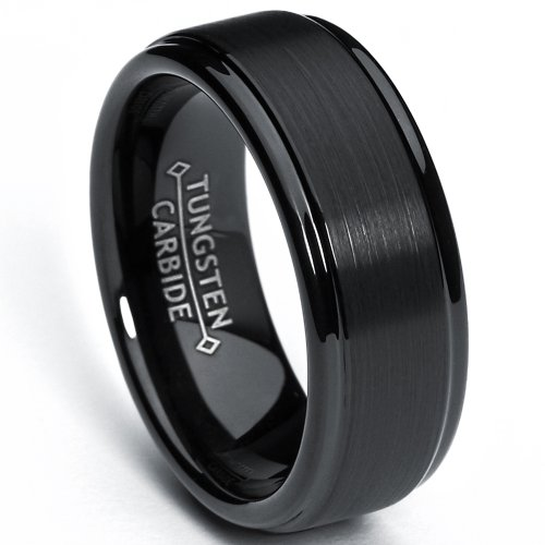 metal-masters-cor-8mm-black-high-polish-matte-finish-mens-tungsten-ring-wedding-band-sizes-6-to-15