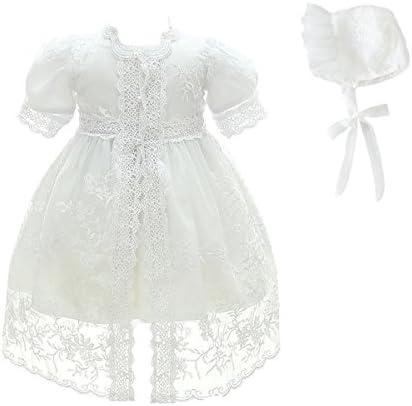 Glamulice bébé fille robe de soirée baptême robes de baptême dentelle princesse arc robe formelle