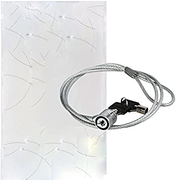 Notebook Laptop Computer Lock Security Cable Chain Key Ignition Shut Chamber Interlock Ringlet 1PCs Chain Security