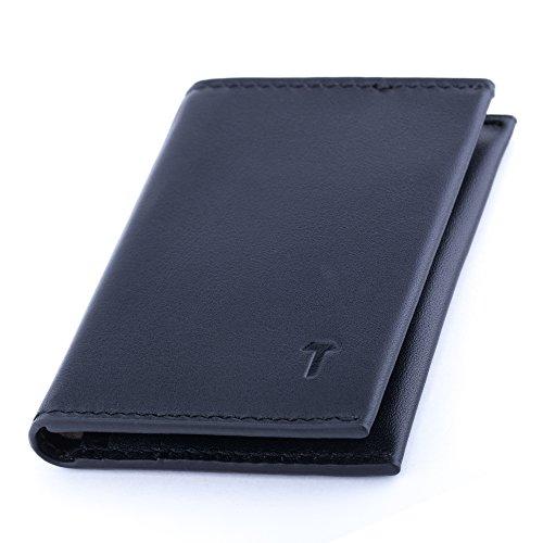 TUKOV-RFID Blocking Minimalist Leather Men Wallet-Slim Bifold credit card holder