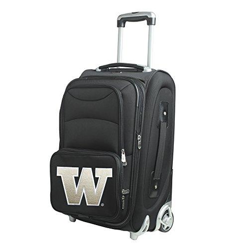 NCAA Washington Huskies In-Line Skate Wheel Carry-On Luggage, 21-Inch, Black by Denco