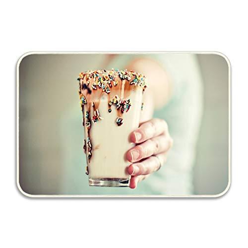 Viola North Non-Slip Outdoor/Indoor Drink Glass Cocktail Milk Non-Ferrous Doormat,16x24 in, Entry Way Shoes Scraper Patio Rug -