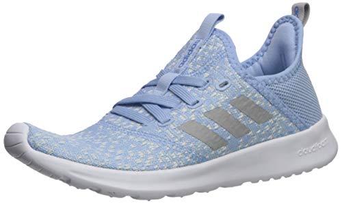 adidas Women's Cloudfoam Pure Sneaker, Glow Grey/Real Blue, 6.5 M US