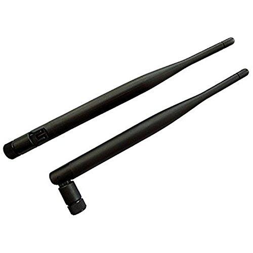 2 QTY Black 2.4GHz 5dBi Omni WIFI Booster SMA Male Antenna f