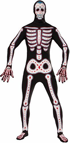Forum Novelties Men's Day Of The Dead Plus Disappearing Man Costume, Multi, X-Large