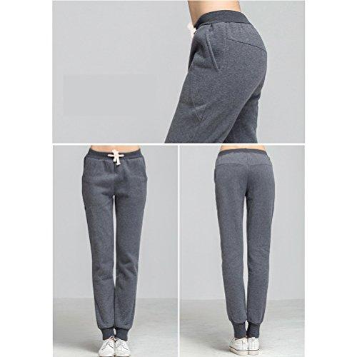 Zhuhaitf Alta calidad Womens Fashion Thick Warm Loose Plus Size Classic Sports Casual Pants Trousers Dark Gray