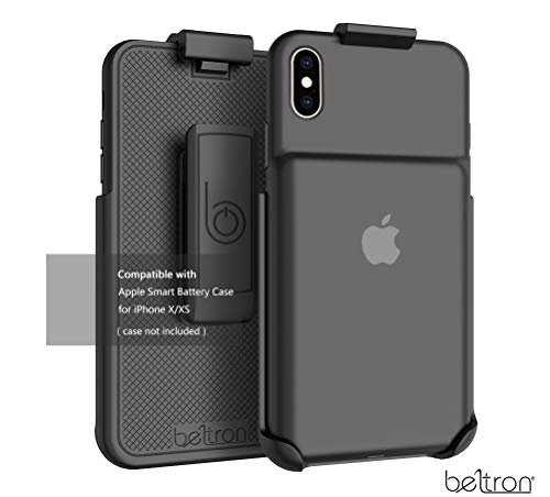 Belt Clip Holster Compatible with Apple Smart Battery Case (for iPhone Xs) - Smart Case NOT Included