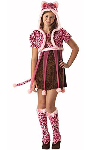 Tween Leopard Costumes (In Character Tween Pink Leopard Kitten Girls Cat Halloween Costume)