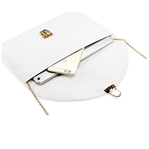 Amaze Fashion Women Handbag Shoulder Bags Envelope Clutch Crossbody Satchel Tote Purse Leather Lady Bag (White) by Amaze (Image #3)
