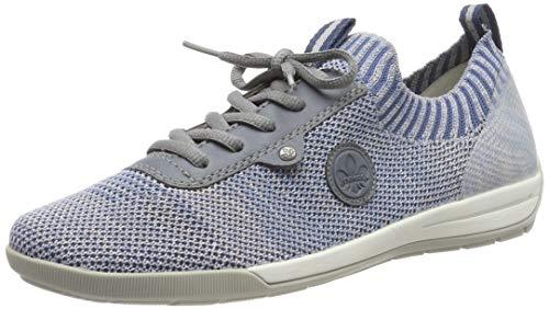 Rieker Women's M3059-12 Low-Top Sneakers, (Blue-Rose/Adria/Clear 12) 9 UK