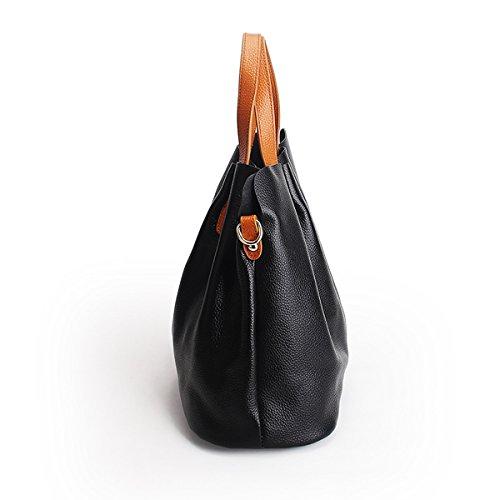 Sac femme M156 LF Sac épaule en Sac portés main fashion portés Noir Sac bandoulière cuir à main Valin qfxpw8z8