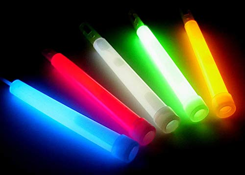 Lumistick 80 Count Jumbo Glowsticks - Ultra Bright 12 inch Long Giant 15mm Thick Flat Bottom Long Lasting Up to 12 Hours Party Light Sticks for Events, Camping, Emergency (Assorted, 80) by Lumistick (Image #4)