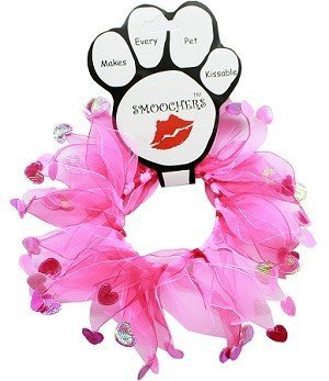 Image of Mirage Pet Products Valentine's Day Smoocher Hearts Party Collar (Medium (12