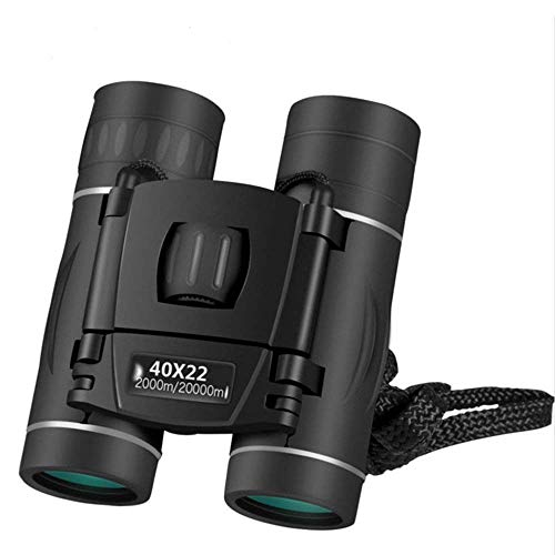 10×22 High Powered Binoculars for Adults | Small & Compact | Lightweight, with Weak Light Night Vision | Great for Outdoor, Bird Watching, Sports, Games, and Concerts