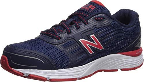 New Balance Boys' YP680SP Running Shoe, PIGMENT/VELOCITY RED, 1 M