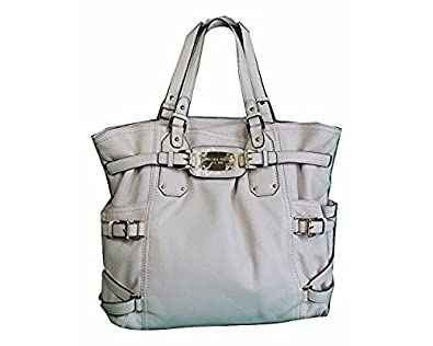 587092db4848 Michael Kors Gansevoort Large North South Vanilla White Leather Tote:  Handbags: Amazon.com