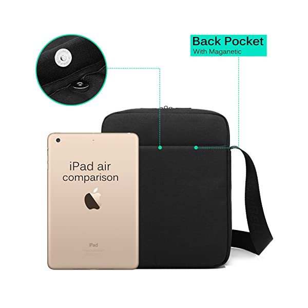 CoolBELL-106-Inch-Shoulder-Bag-Carrying-Day-Bag-with-Adjustable-Shoulder-Strap-Simple-Style-Sleeve-Case-for-TabletiPad-Black