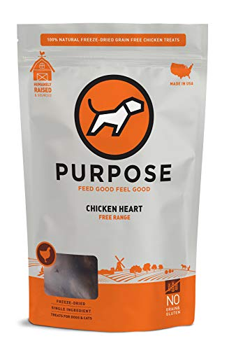 Purpose Freeze Dried Raw Whole Chicken Hearts Dog and Cat Treats Free-Range
