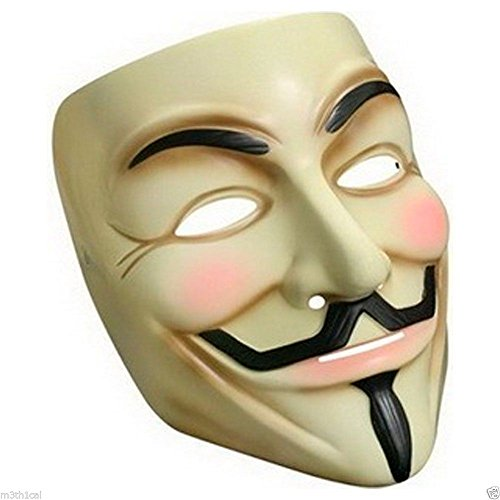 V FOR VENDETTA OFFICIAL LICENSED GUY FAWKES OCCUPY ANONYMOUS COSTUME MASK - V For Vendetta Mask Official