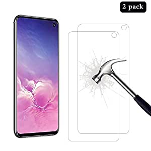 [2 Pack] AhaSky Samsung Galaxy S10E Screen Protector, Glass Screen Protector, [Anti-Scratch] [Anti-Bubble] [Anti-Glare] Tempered Glass for Samsung S10E