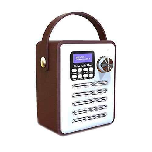 Smartey Radio - Multifunctional Retro Radio DAB Digital WiFi Internet FM Portable Radio Alarm Clock Wooden Box Stickers Belt Bluetooth TF Card U Disk MP3