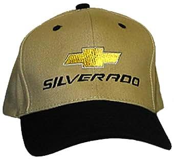 Chevy Silverado Truck Hat Cap - Chevrolet Clothing (Khaki/Black)