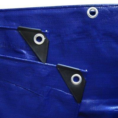 MASTERP Anhä nger-Abdeckplane, blau, 2,65 x 1,40m, Ö senabstand 30cm, verstä rkte Ecken, ca. 240g/m2 Masterproof