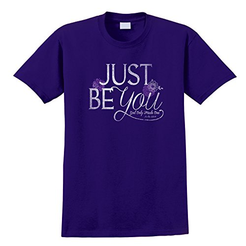 Gardenfire Just Be You, God Only Made One Psalm 139:14 Christian Womens Shirt, Size XL