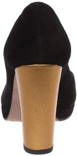 Castaner Yolanda, Damen Pumps Noir (124 12 Negro/Oro)