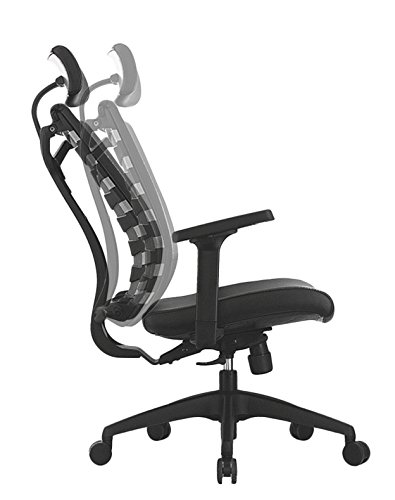 ApexDesk SK Series Ergonomic Leather High-Back Office Chair Adjustable Seat Height, Backrest and Armrest – Black by ApexDesk (Image #2)