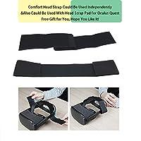 Black Comfortable PU Leather /& Reduce Head Pressure Aurrako Head Strap Headband for Oculus Quest Virtual Reality VR Headset Accessories