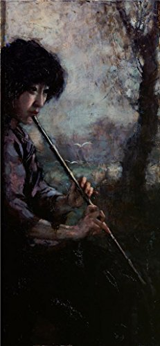 Video Dog Costume Tarantula (Oil Painting 'Xu Beihong, A Woman Playing The Flute,20th Century' Printing On Perfect Effect Canvas , 20x43 Inch / 51x110 Cm ,the Best Foyer Gallery Art And Home Gallery Art)