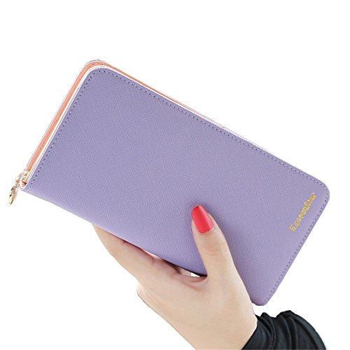 FXTXYMX Clutch Wallets Leather Bifold Organizer Wallet Wristlets For Women Teen Girls