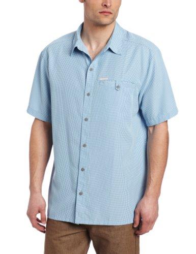 Columbia Men's Big Declination Trail Short Sleeve Extended Shirt, Blue Sky, 1X