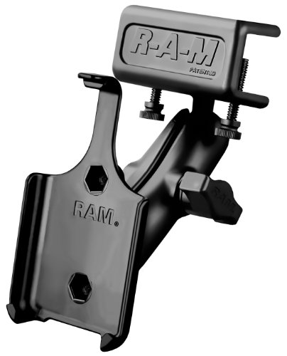 Ram Mount Universal Glare Shield Clamp Mount for iPhone 4/4s without Case/Skin/Sleeve - Non-Retail Packaging - Black