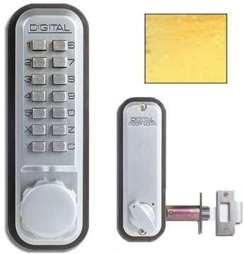 UPC 831469003024, Digital Door Lock 2230 Deadlocking Latch, Bright Brass