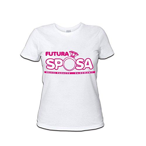Personalizzata Sposa al Bianco Marca Maglietta T Shirt per Addii Nubilato Futura Donna Anello Altra RPCqwzz