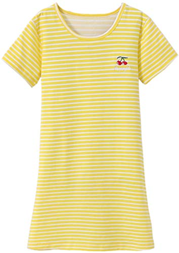 - HOYMN Girls' Nightgowns & Sleep Shirts Cotton Sleepwear Pink 3-10 Years (9-10 Years, Cherry Yellow)