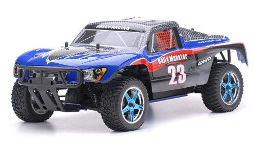 1/10 2.4Ghz Exceed RC Rally Monster Nitro Gas Powered RTR Off Road Rally Car 4WD Truck Carbon Blue ***STARTER KIT REQUIRED AND SOLD SEPARATELY*** - Gas Power Rc Truck