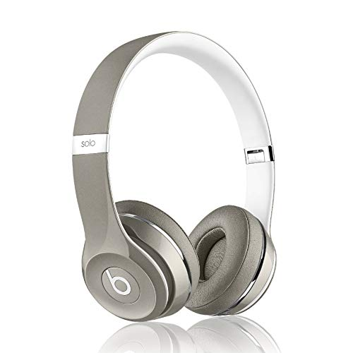 Beats by Dr. Dre Solo2 Wired On-Ear Headband Headphones Luxe Edition - Silver
