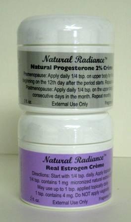 Estro Pack = Deux 2 oz Jars - Un progestérone et oestrogène Un réel / Estriol (sans soja - sans parfum & Sans paraben) Creme - 2 Produits ménopause dans un seul paquet