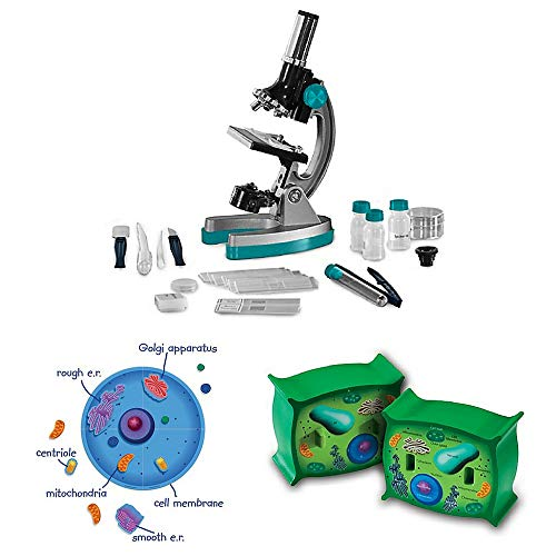 Magnetic Learning Foam Resources (Learning Resources 18-Piece Giant Magnetic Animal Cell Set, Cross Section Plant Cell Model, Educational Insights GeoVision MicroPro Microscope Set, Science Kit, Science Toys, Learning Toys)