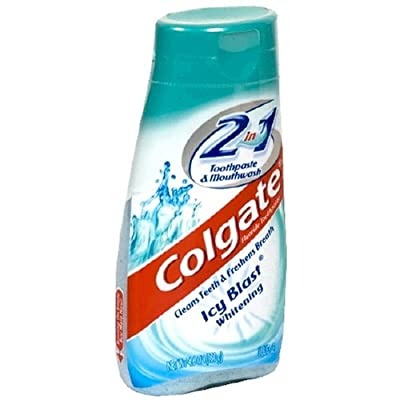 Colgate 2 in 1 Toothpaste & Mouthwash, Whitening Icy Blast - 4.6 oz