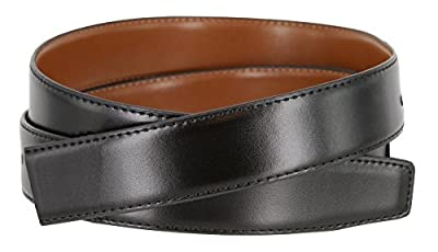 "Men's Reversible Smooth Genuine Leather Dress Casual Belt Strap 1-1/8"" wide - Black/Tan"