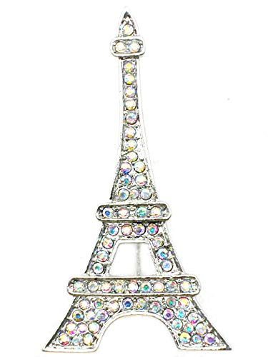 Pin for Jackets - Eiffel Tower Pin Brooch Paris Gorgeous AB(Aurora Borealis) Crystal - Accessories for Men and Women