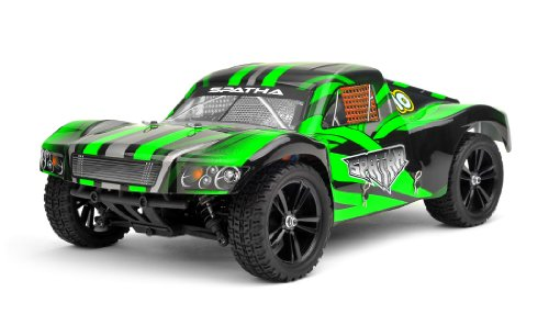 Iron Track RC Spatha 1:10 Scale 4WD Electric Short Course Truck Ready to Run (Green)