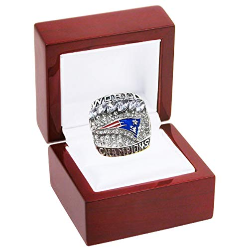 LEMOISTARS 2019 New England Patriots Football Super Bowl Champion Ring for Fans Men's Gift (9)