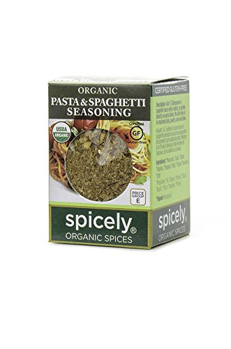 Spicely 100% Organic and Certified Gluten Free, Spaghetti and Pasta Seasoning
